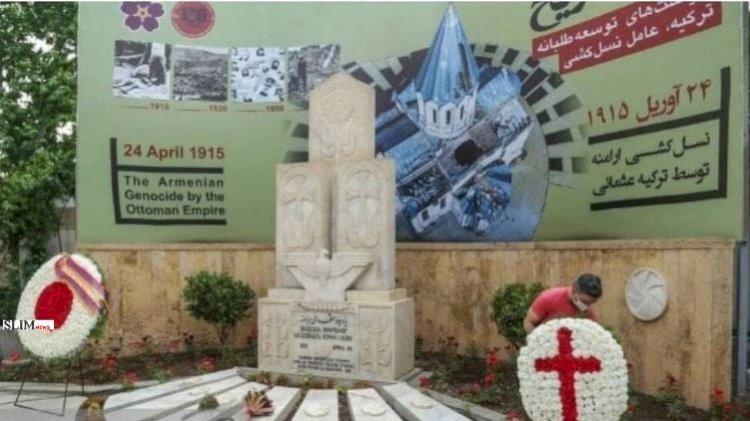 В центре Тегерана открыли мемориал Геноцида армян с изображением взорванной в Шуши церкви Казанчецоц