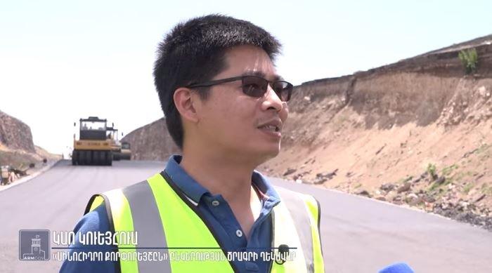 Ведутся активные строительные работы на участке Талин-Гюмри автомагистрали «Север-Юг» ВИДЕО
