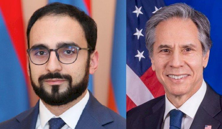 Тигран Авинян направил поздравительное послание госсекретарю США Энтони Блинкену