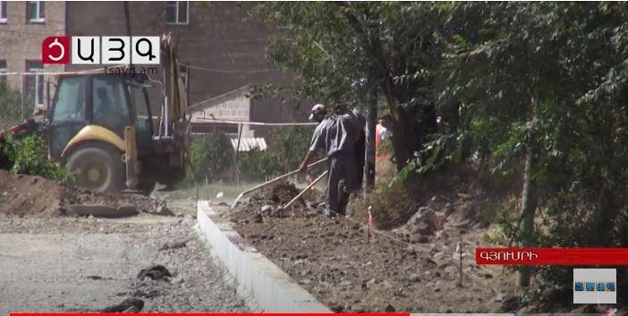 Впервые за 30 лет ремонтируются дороги в Гюмри ВИДЕО