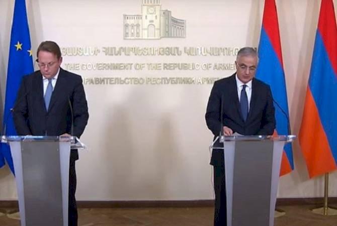 Евросоюз был и остается одним из ключевых партнеров Армении: и. о. вице-премьера Армении Мгер Григорян