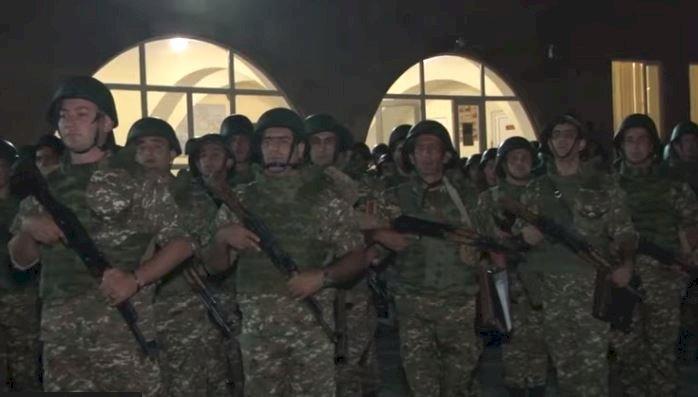 Новая группа армянских полицейских приступает к боевому дежурству на границе (ВИДЕО)